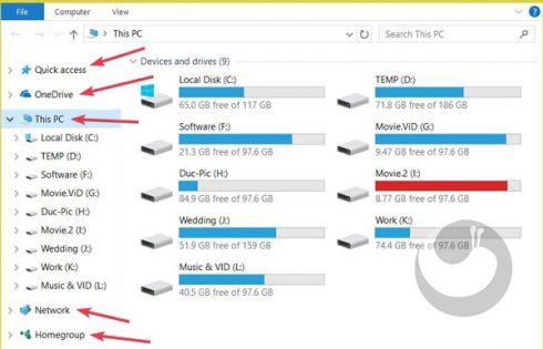 آموزش حذف آیکن های اضافی پنل ناوبری This PC ویندوز ۱۰